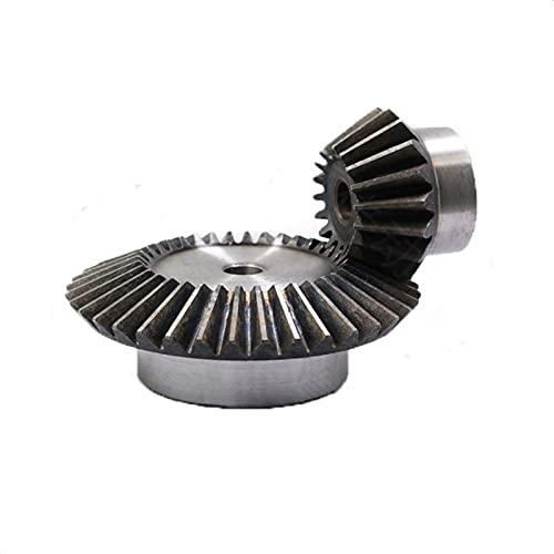 ZHENGGUIFANG Zgf-BR 1: 1.5 Engranaje de Bisel 2.2Modulus18 Dientes + 27teeth Agujero Interior 12 mm 90 Grados de transmisión de Acero Engranajes de Acero M4 / 5
