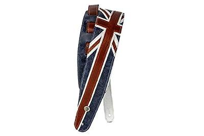 Premium Leather Union Jack Guitar Strap