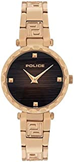 Police Qurem Analogue Rose Gold Case, Brown Dial And Rose Gold Watch For Women - PL 15570LSR-12M