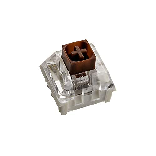 Glorious PC Gaming Race Kailh Box Brown Switches (120 Stück), Taktil und Silent Switches fur Gaming Tastatur, Hohe Kompatibilität, 3 Pin Mechanical Switches mit Box Top, Mechanical Keyboard Switches