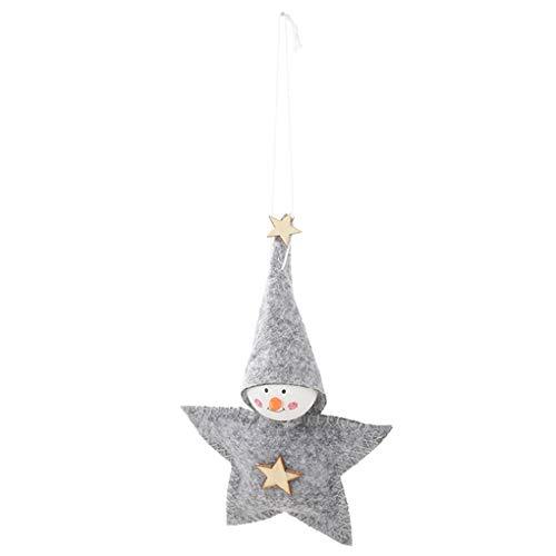 rongweiwang Estrella de Cinco Puntas en Forma de muñeca Colgante de Marionetas Pequeño Decoración Colgante de Estrella de Cinco Puntas de Navidad árbol de Navidad Ornamento de la decoración del hogar