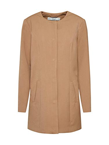 JACQUELINE de YONG by ONLY Damen City Mantel Kurzmantel JDYNEW Brighton Coat 15152556 Camel Gr.M
