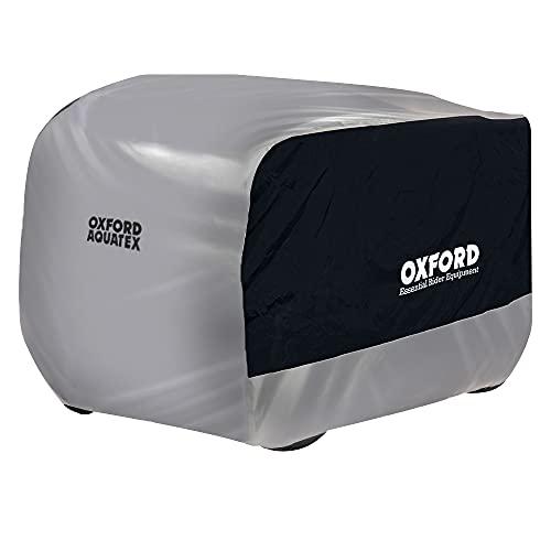 OXFORD Aquatex 2016 ATV - Cubierta para Todoterreno, para Quad, Moto, Lluvia, Sol, Polvo y Nieve, Talla pequeña, Color Blanco y Azul