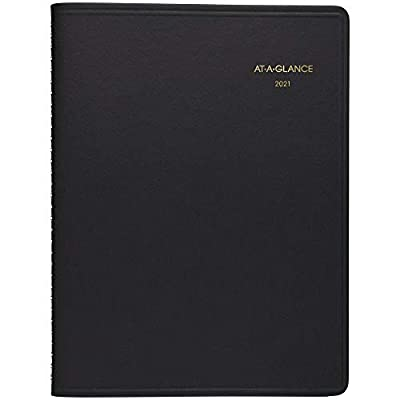 "2021 Monthly Planner by AT-A-GLANCE, 9"" x 11"", Large, 15 Months, Black (702600521)"