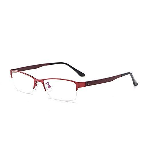 GLASSES Fashion Half Frame Damen Lesebrille, Harz HD Dual-Purpose Multifunktions Smart Progressive Multi-Focus Lesebrille Mittleren Alters und Ältere Menschen