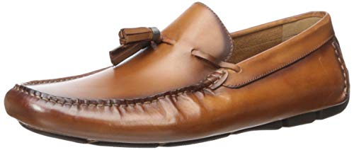 Kenneth Cole New York Men's Theme Driver D Driving Style Loafer, Cognac, 10 M US