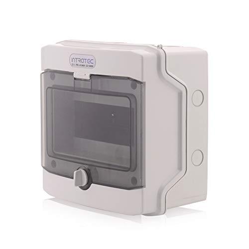 Sicherungskasten Aufputz IP65 Feuchtraum Verteiler Elektroinstallationsverteiler 1-reihig 8 Module Installation im Garten oder andern Außenbereiche