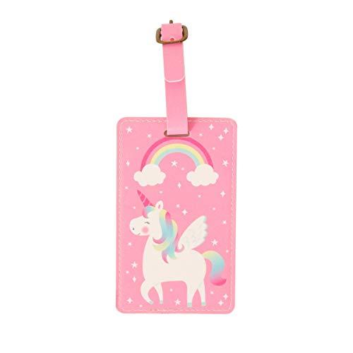 Sass & Belle Rainbow Unicorn Luggage Tag