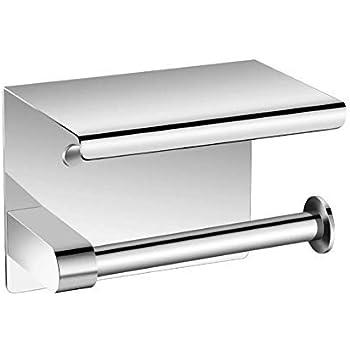 トイレットペーパーホルダー 紙巻器 棚付き 浴室ティッシュホルダー スマホ置き 304ステンレス製 壁取り付け 高品質 防錆