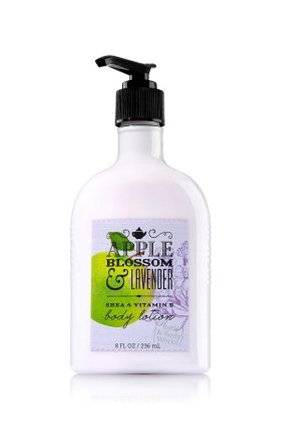 メイン軽減する何でも【Bath&Body Works/バス&ボディワークス】 ボディローション アップルブロッサム&ラベンダー Body Lotion Apple Blossom & Lavender 8 fl oz / 236 mL [並行輸入品]