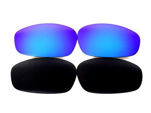 Lentes de repuesto Galaxy para gafas Oakley Blender negro/azul polarizadas