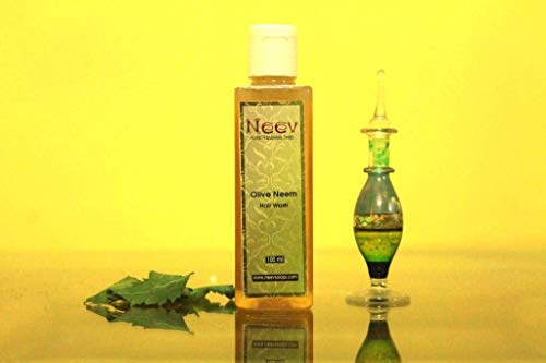 Olive Neem Hair Wash Shampoo - Natural And Ayurvedic Herb Wash 100 ML(3.3 OZ)
