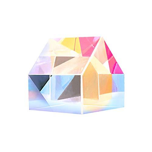 SosoJustgo2 Kristall-optisches Glas Triangular Fotografie Prism Teaching Prism Regenbogen-Spektrum Experimente Glas Kristall K9
