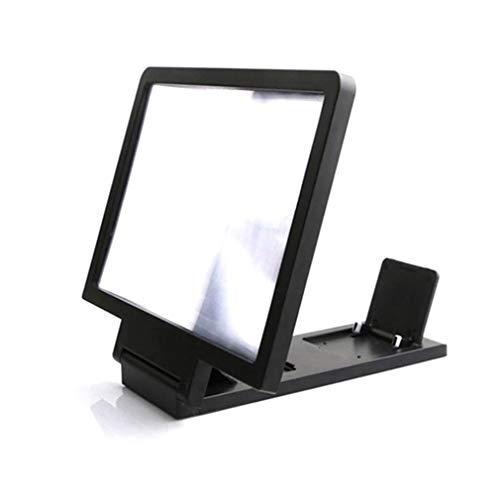 WEQQ 3D-Bildschirm Telefonverstärker Videolupe 3D-Bildschirmverstärker Keine Strahlung (schwarz)