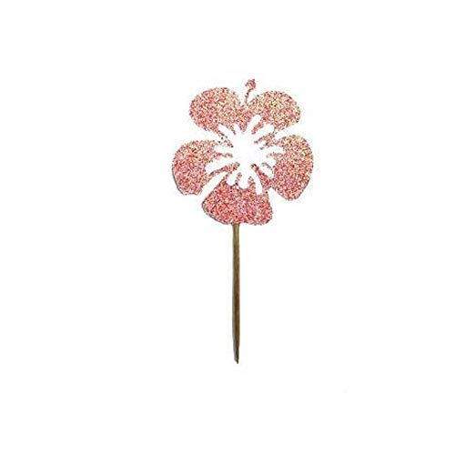 Hibiscus Cupcake Toppers, Lente Party Decor, Zomer Feestdecor, Zomer Feest, Zwembad Feest, Luau Feest, Hawaiian Theme Party, Bloem Topper