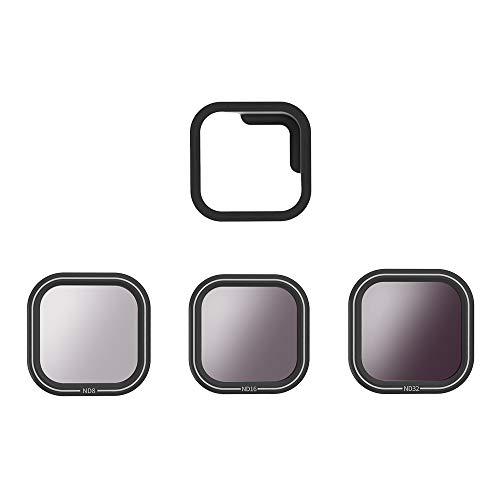 Eyeon Kit de Filter ND Densidad Neutra Filtro 3 Piezas ND8 ND16 ND32 ND Filtro de Lente para GoPro Hero 8 Black Cámara