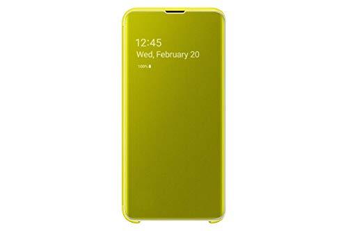 Samsung EF-ZG970CYEGWW Clear View Custodia per S10 E, Giallo