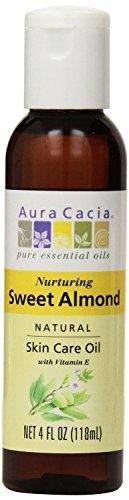 Aura Cacia, Sweet Almond Oil, 4 oz liquid (Pack of 2)