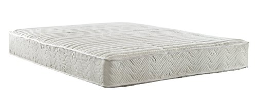 Signature Sleep Contour Encased Mattress, Full, White