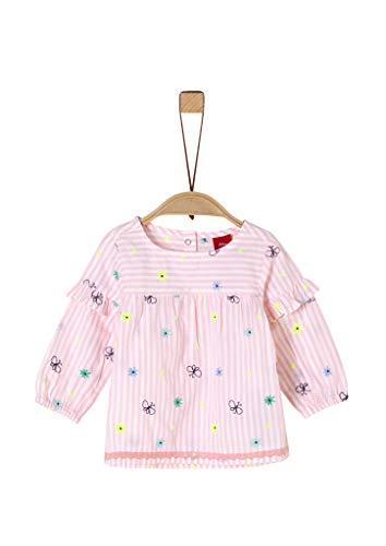s.Oliver Junior 405.10.004.10.100.2019349 Bluse, Baby - Mädchen, Rosa 80 EU