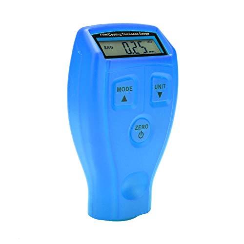 Tester dello Spessore del Rivestimento, misuratori dello Spessore della Vernice, misuratori dello Spessore della Vernice Durevole Mini LCD Tester della Vernice per Auto(Blue)