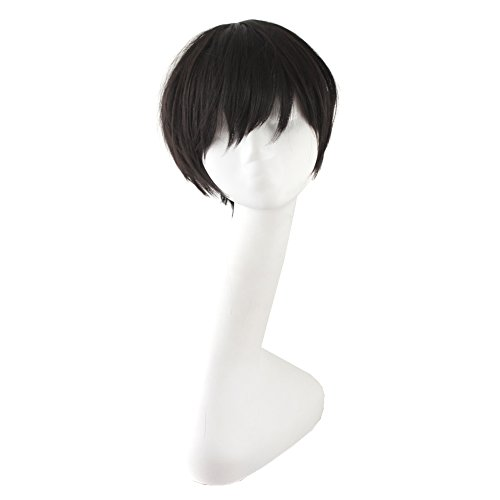 MapofBeauty 12' Black Hot Cosplay Party Straight Short Wigs