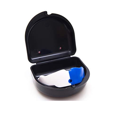 Protetor Bucal Simples Prof. Com Estojo Colorido Punch Unissex Único  Branco E Azul