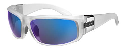 Ryders Sports Sunglasses 100% UV Protection, Impact Resistant Sunglasses for Men, Women - Rockslide (Crystal Frame/Grey Lens)