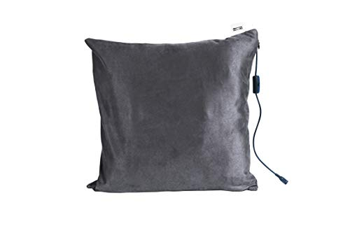 Comfy Massagekissen mit Wärmefunktion | Farbe Grau | 40 x 40 cm | Entspannt Rücken, Nacken, Kopf & Schultern