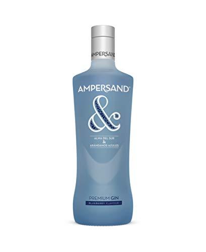 Ginebra premium Ampersand Gin sabor arándanos 37.5º 70 cl