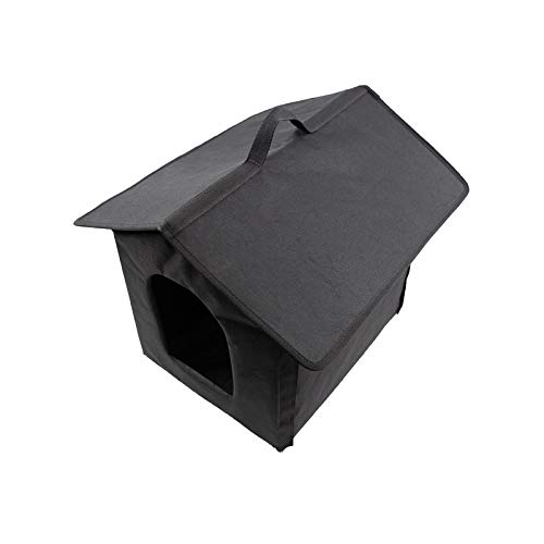 QIANG Pet House American Short Chinese Garden Cat Dog Pet Bed Outdoor Portable Oxford Cloth Waterproof Gray Black Pet House Warm In Winter and Cool In Summer Suitable for Medium-sized Dogs