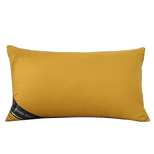 SKYGC Paquete de 2 Almohadas para Ropa de Cama Almohada Alternativa de Plumón Almohadas para Dormir Almohada Hipoalergénica con Cómodo Soporte Los 74x48cm,Amarillo