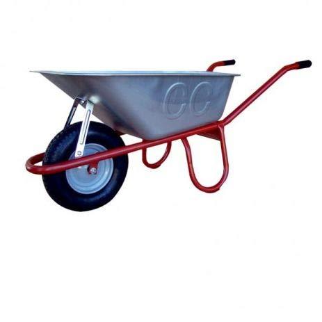 Professionele bouwkruiwagen Allcar100 I kruiwagen met luchtwiel, kunststof handgrepen & kantelbeugel I 100 liter opening I gemonteerd