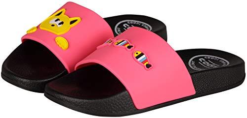 Coqui Kids - Unisex Ruki Slide Slipper Pantoffeln (28/29 EU, Hello Kitty Fuchsia)