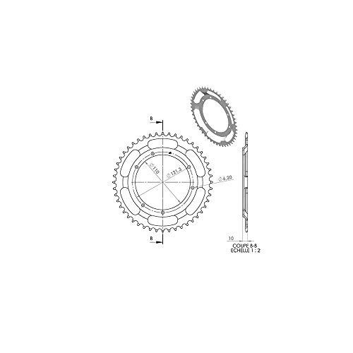 Couronne Adaptable MBK 88 48 Dts (Alesage 110Mm) 6 Trous