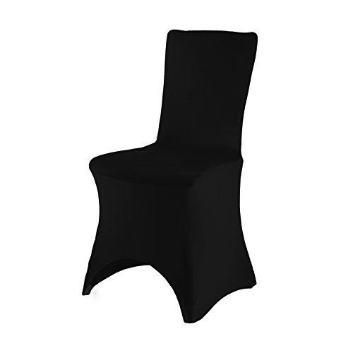 Smartfox Stuhlhusse Stuhlbezug Überzug Strechhusse Spannbezug in Schwarz