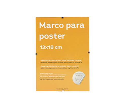 Nacnic Cornice Trasparente con Fissaggio a Clip per Foto, Poster, Disegni, attestati o diplomi. Dimensioni 13x18 cm. Cornice a Clip con plexiglass