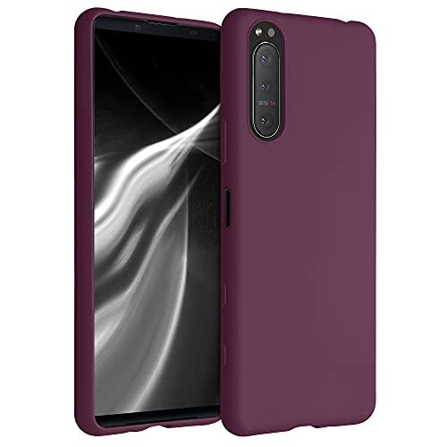 kwmobile Hülle kompatibel mit Sony Xperia 5 II - Hülle Silikon - Soft Handyhülle - Handy Hülle in Bordeaux Violett