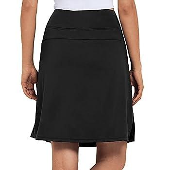 Best knee length black skirt Reviews