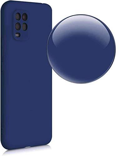 Compatible para XIAOMI MI 10 LITE (5G) Funda protectora de gel de silicona TPU suave flexible mate ultra suave (azul)
