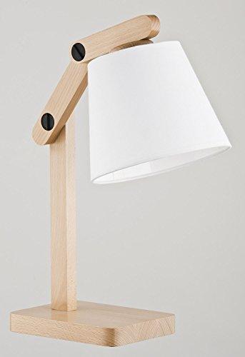 ALFA Joga Blanc 1 Lampe de Chevet Lampe à Poser Luminaire Lampe de Table lumière Interieur