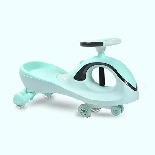 Ygqtbc - Bicicleta oscilante para niños, bicicleta giratoria giratoria para niños y niñas, ruedas silenciosas de 1 a 6 años