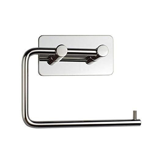 Enxing - Soporte para rollo de papel higiénico (3 m, autoadhesivo o tornillos), acero inoxidable, Crystal Mirror, 13.5x11cm
