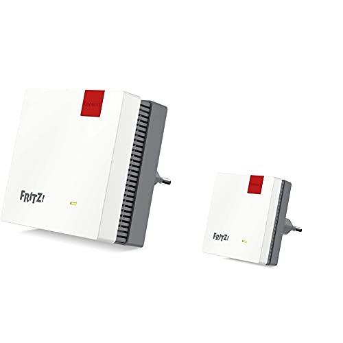 AVM Fritz!WLAN Mesh Repeater 1200 (Zwei Funkeinheiten: 5 GHz (bis zu 866 MBit/s), 2,4 GHz (bis zu 400 MBit/s)) & Fritz!WLAN Mesh Repeater 600 (WLAN N bis zu 600 MBit/s (2,4 GHz))
