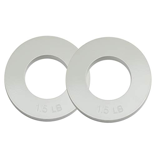 Logest Fractional Olympic Plates Set of 2 Plates - 1 LB 1.25 LB 1.5 LB (Choose Set) Fractional Weight Plates Designed for Olympic Barbells for Strength Training and Micro Plates Weight Plates (1.5)