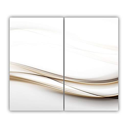60x52 cm Tulup spezie Colorate Copri-Piano Cottura Prodotti Alimentari e Bevande Proteggi-Piano di Lavoro e spianatoia Cubierta de vidrio Multicolore Tagliere in Vetro temperato