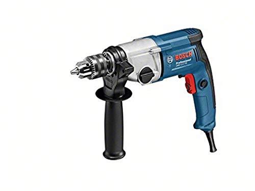 Bosch Professional Bohrmaschine GBM 13-2 RE (inkl. Zahnkranzbohrfutter 1,5-13mm, Zusatzhandgriff, Tiefenanschlag 210 mm, Karton)