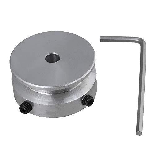 Aluminium D30x5mm Einloch Nut Riemenscheibe Bohrung 5mm Riemenbreite 7mm mit Schlüssel Festschraube für Motorwelle Rundriemen