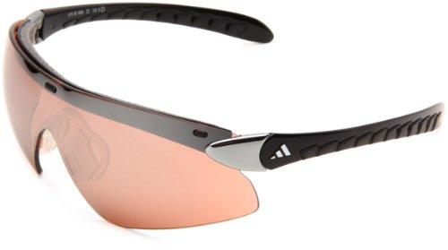 adidas supernova pro L a176-6050 Shield Sunglasses,Chrome & Black Frame/LST Active Silver Lens,One Size