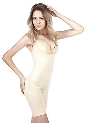 Gaiyi Women's Tummy Control Shapewear, Slimming, Apricot, Size Large - X-Large